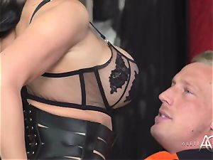 red-hot porn legend Aletta Ocean takes two rods in her rump and coochie