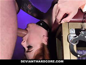 DeviantHardcore - hot redhead Gets mouth screwed