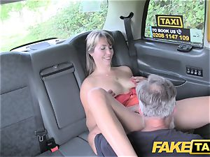 faux taxi woman in brief dress gets a cab internal ejaculation