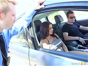 Keisha Grey getting screwed throughout the car