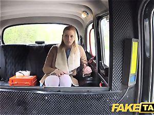 faux cab Nurse in marvelous underwear has car fuck-a-thon
