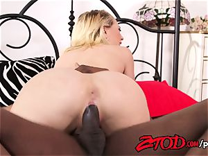 Kagney Linn Karter takes a huge dark-hued rod