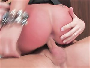 huge-chested fuckslut Kerry Louise gets plunged stiff and earns a ginormous load of super hot cum