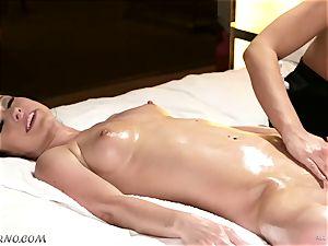 obscene masseuse entices her acquaintance Jennifer milky