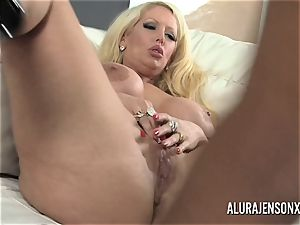 massive orb pornographic star Alura Jenson loves massive black stiffy