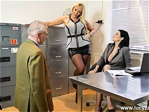 cool bosses turn office crank into foot adore sub