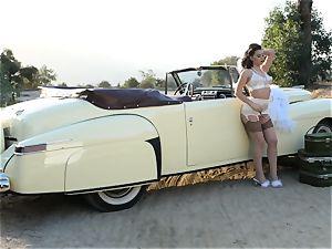 Lana Rhoades antique car fuckbox have fun