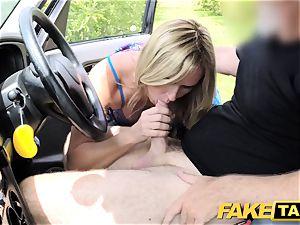 fake cab Mum with congenital bra-stuffers gets meaty brit chisel