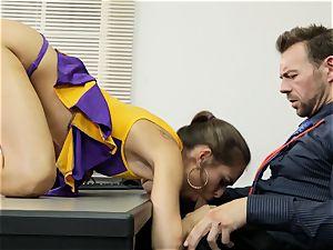 Cheerleader Riley Reid getting her hands on a schoolteacher