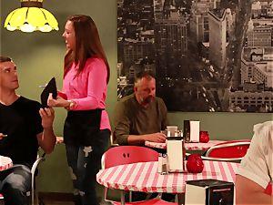 bashful waitress Penny Pax drills her fantasy customer