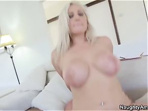 sex-positive blondie Dayna Vendetta seduced mature man Mick Blue