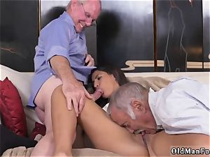 2 elderly and blond gal drill first time Going South Of The Border