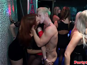 european inexperienced deepthroating weenie at party