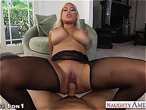 Housewife Bridgette B. gets humungous mammories pounded in pov