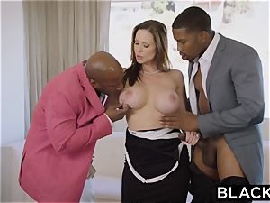 BLACKED super-fucking-hot Trophy wifey nails big black cock in husband's couch