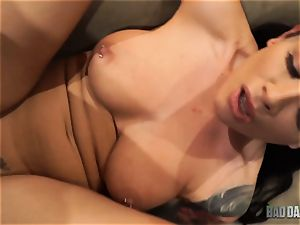 jizz longing Katrina Jade bashed in her cock-squeezing coochie by stepdad