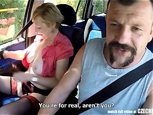 Mirek Takes Mature huge-boobed mega-bitch on Public