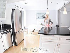 NANNYSPY Elsa Jean unknowingly webcam flirting with chief