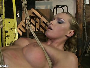 Kathia Nobili and Mandy Bright assets tying with rope
